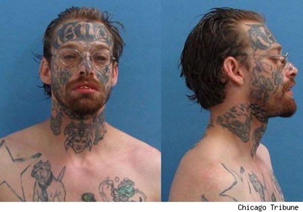 Forehead Tattoo Mugshot